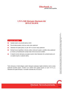 Infolist - Oberbank