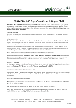 RESIMETAL 203 Superflow Ceramic Repair Fluid