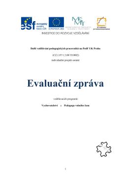 UNIVERZITA KARLOVA V PRAZE - Další vzdělávání pedagogických