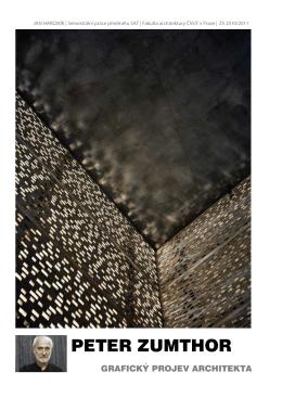 arch. Peter Zumthor - text - Semestrální práce FA ČVUT
