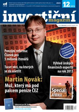 Martin Novák: - Investiční magazín