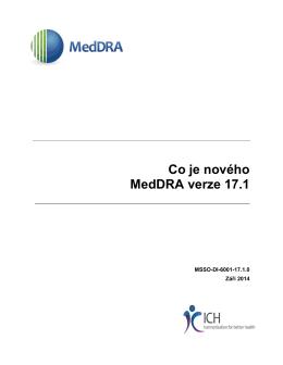 Co je nového MedDRA Verze 17.1