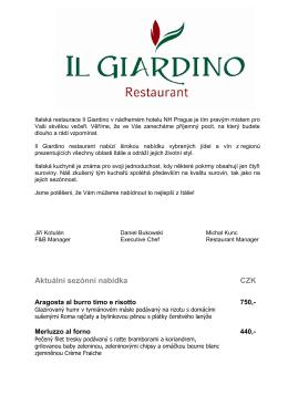 Il Giardino Restaurant (.pdf)