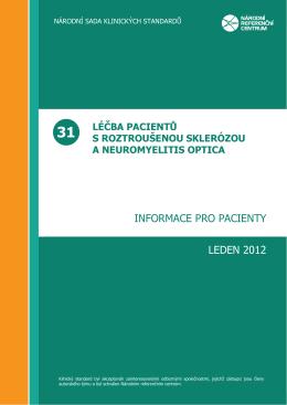 INFORMACE PRO PACIENTY LEDEN 2012