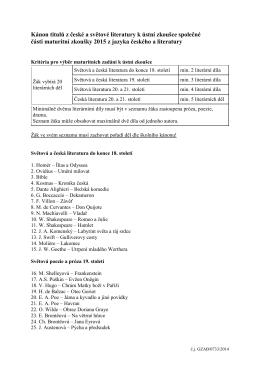 Školní seznam titulů