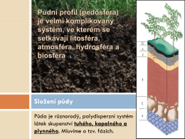 Složení půdy