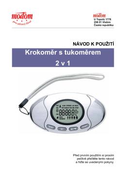 Krokoměr s tukoměrem 2 v 1 - Fitness
