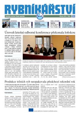 Noviny Rybníkářství 13. číslo - Rybářské sdružení České republiky