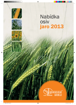 Nabídka osiv jaro 2013