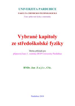 Příklady SF - Univerzita Pardubice
