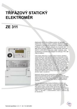 Technická specifikace ZE 311