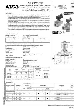 """Elektromagnetické pulsní ventily 3/4"""" a 1"""""""
