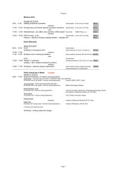 Program Minikurz 2012