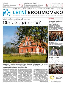 Celé číslo letních novin Broumovska si můžete