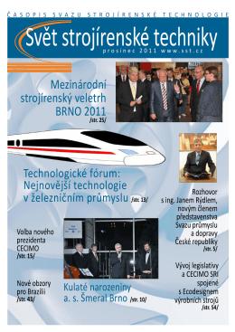 Svět strojírenské techniky číslo 3/2011 (PDF, 11.96 MB)