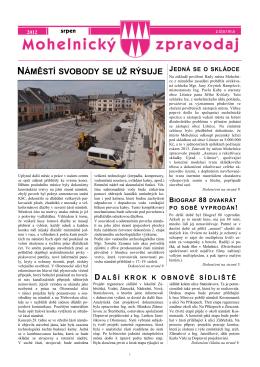 Mohelnický zpravodaj srpen 2012