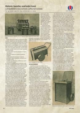 Historie tavného svařování kovů