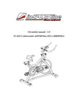 CZ IN 4422 Cyklotrenažér inSPORTline JOTA