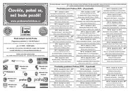 (PPP) – 9 pochodů - Prahou turistickou