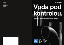Prospekt - Kanalizační systémy a odpadní soupravy Geberit (pdf)