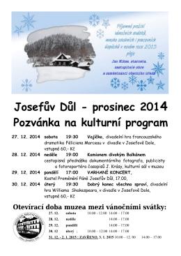 Kulturní program v Josefově Dole