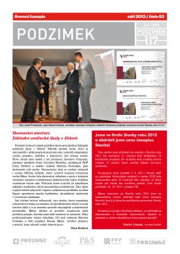 firemní časopis září 2013 / číslo 63