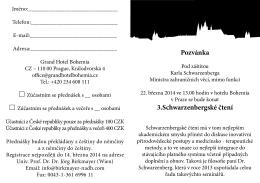 Pozvánka 3.Schwarzenbergské čtení
