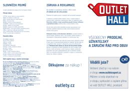 Reklamační a provozní řád OBUV