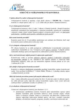 Metodika - Veřejnosprávní kontrola - AUDIT