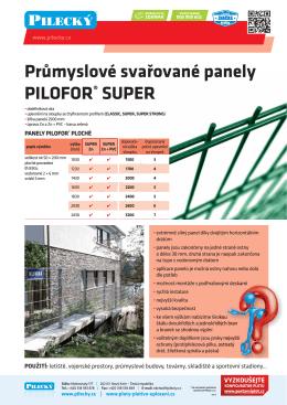 Průmyslové svařované panely PILOFOR® SUPER