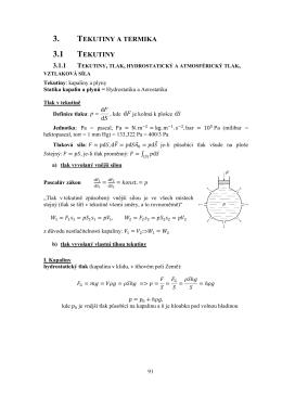 3. TEKUTINY A TERMIKA 3.1 TEKUTINY 3.1.1