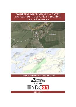 Posouzení kontaminace a návrh sanace vod v