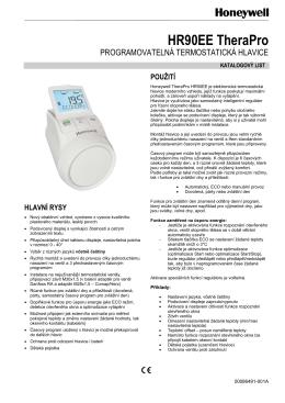Elektronická termostatická hlavice HR90