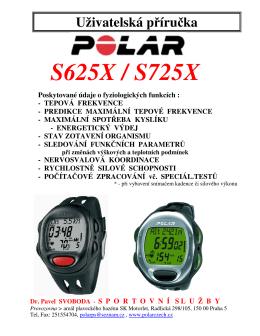Polar S625X - Sportovní služby