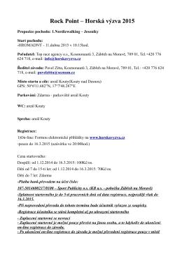 propozice ke stažení *.pdf - Rock Point