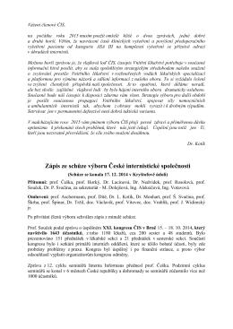Zápis ze dne 17. 12. 2014, Kryštofovo údolí