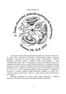Abstracts - CZECH MYCOLOGY