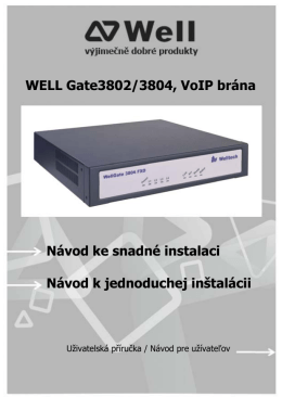 WELL Gate3802/3804, VoIP brána Návod ke