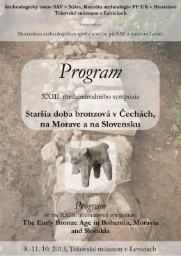 XXIII. medzinárodného sympózia Staršia doba bronzová v Čechách