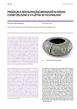 Průzkum a restaurování bronzového kruhu z doby železné s