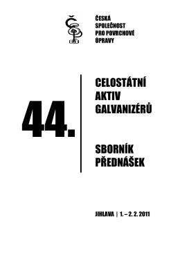 sborník přednášek - Česká společnost pro povrchové úpravy