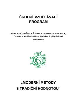 ŠVP ZUŠ E Marhuly 4 - ZUŠ Eduarda Marhuly Ostrava