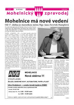 Mohelnický zpravodaj květen 2013