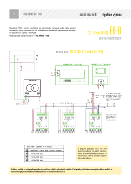 (CH110 nebo CH150) EB-B pouze pro režim topení suché