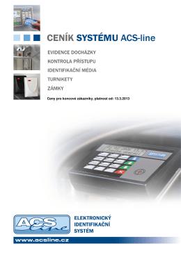 Koncový ceník systému ACS-line