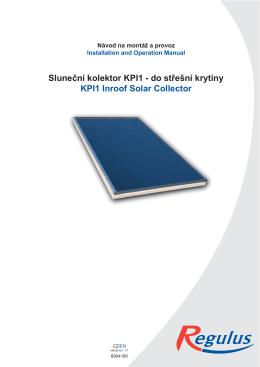Návod na kolektor KPI-DC CZ EN