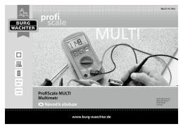 ProfiScale MULTI Multimetr cz Návod k obsluze - Burg