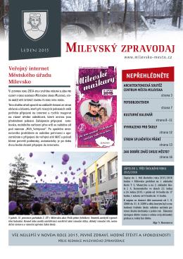 Milevský zpravodaj 1-2015