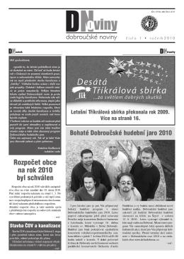 Dobroučské noviny č. 1/2010.
