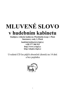 audioknihy - Studijní a vědecká knihovna plzeňského kraje